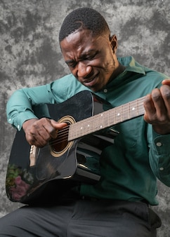 African american man celebrating international jazz day