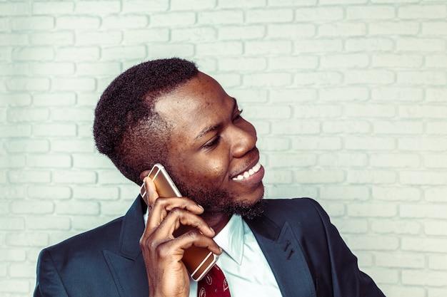 African american man with samrtphone