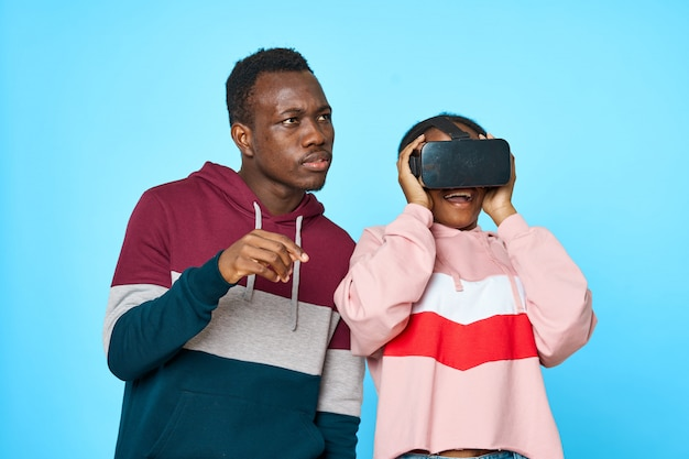 African couple with vr