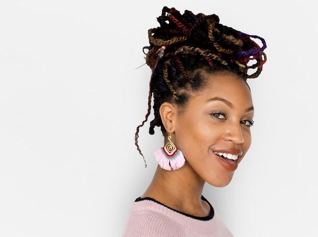 African descent female smile happy