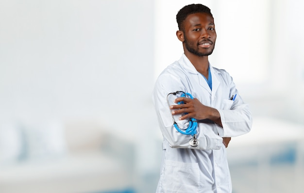African doctor portrait