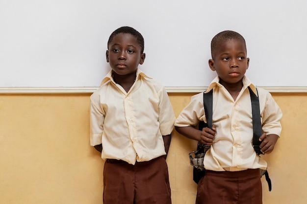 학교에서 수업에 아프리카 아이들
