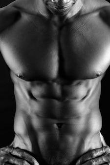 African man abdomen