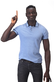 African man with finger in the shape of number one