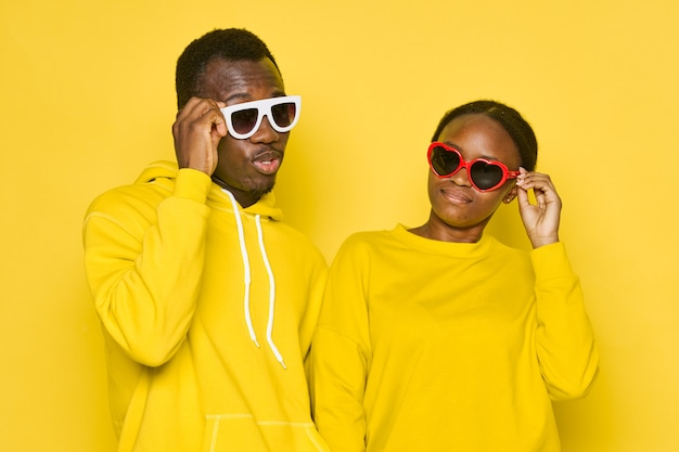 African man and woman wearing sunglases