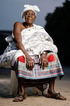 African senior woman