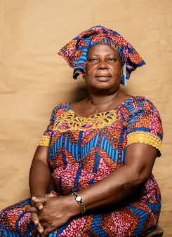아프리카 고위 여자