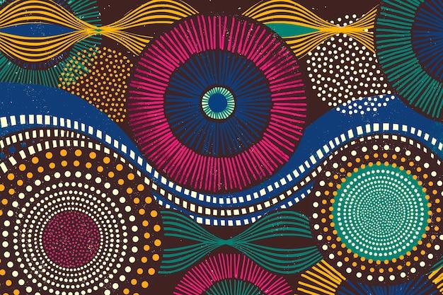 カラフルなトーンのアフリカの部族パターンの背景