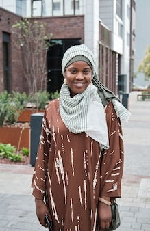 도시의 아프리카 여성