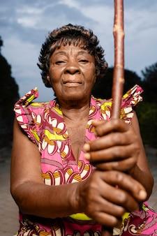 アフリカの女性の肖像画