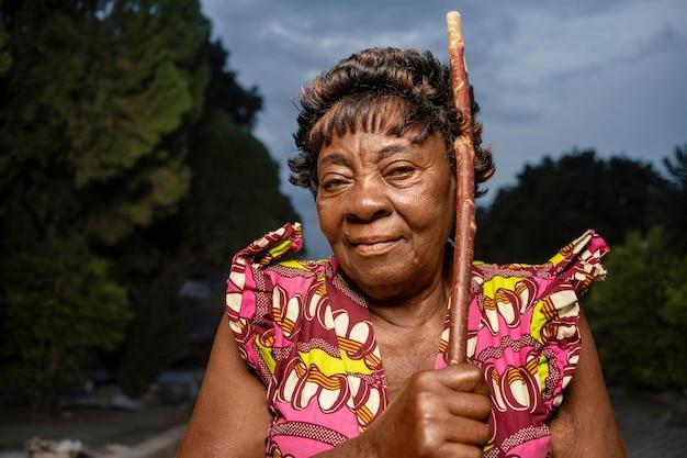 아프리카 여자 초상화