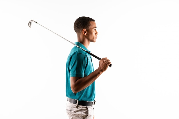Afro american golfer player man