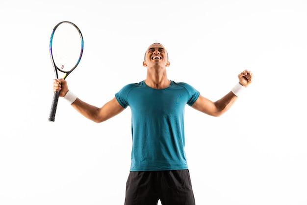 Afro american tennis player man