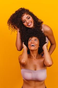 巻き毛のアフロ友達