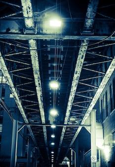 Aged iron bridge