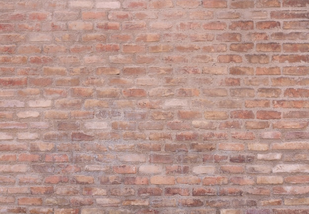 Aged red brick wall