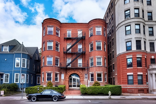 Aged residential buildings in usa