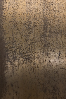 Aged and scratched metal wall