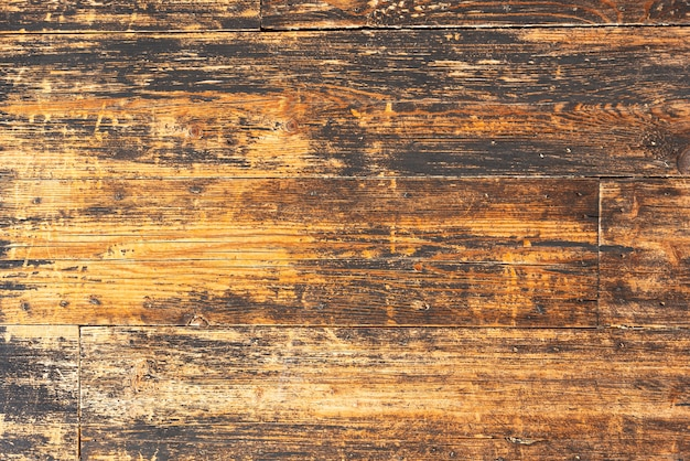 Aged wooden planks wall background