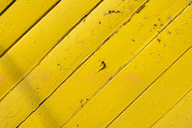 Aged yellow wooden planks background