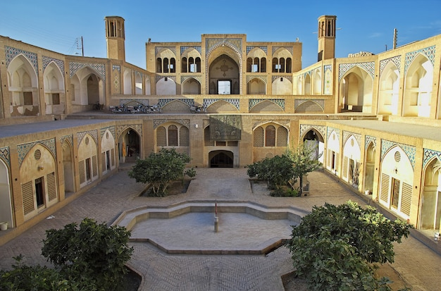 Agha bozorg mosque in kashan iran