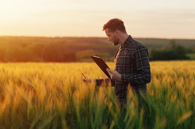 現地視察の農業技術者