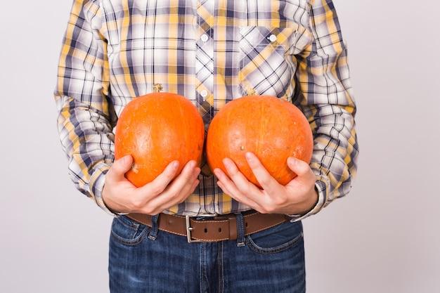 農業、秋、人々の概念