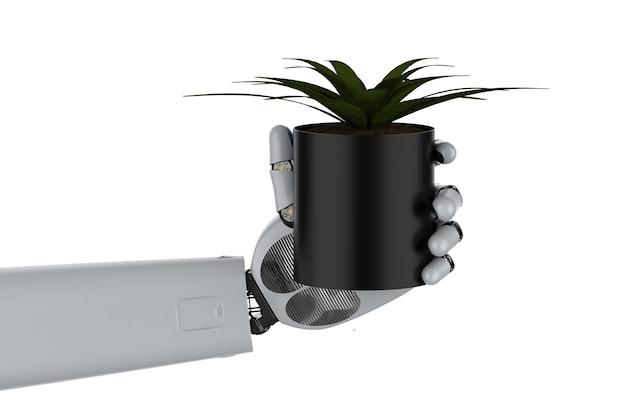 ロボットアームホールドプラントによる農業技術