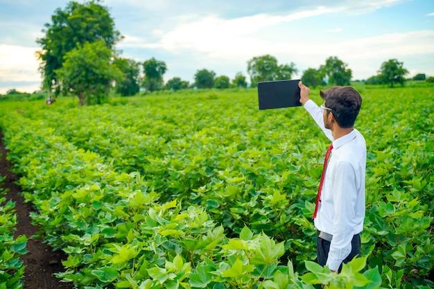 綿畑の農学者、タブにいくつかの情報を表示