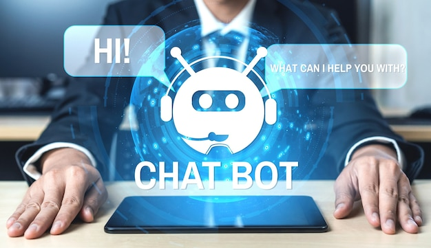 Концепция интеллектуального цифрового приложения обслуживания клиентов ai chatbot.