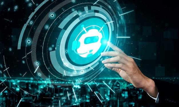 Aiチャットボットスマートデジタルカスタマーサービスアプリケーションのコンセプト。