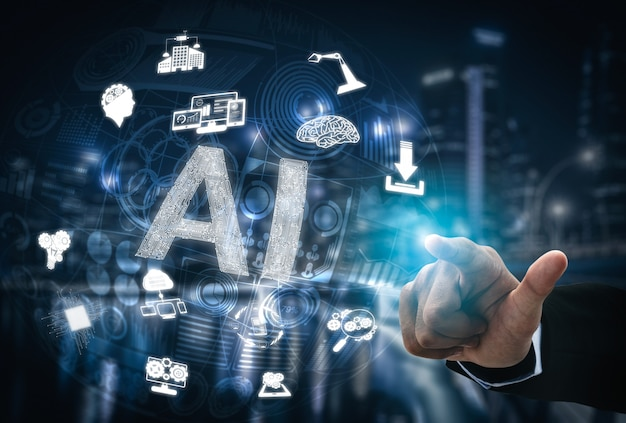 Ai学習と人工知能のコンセプト
