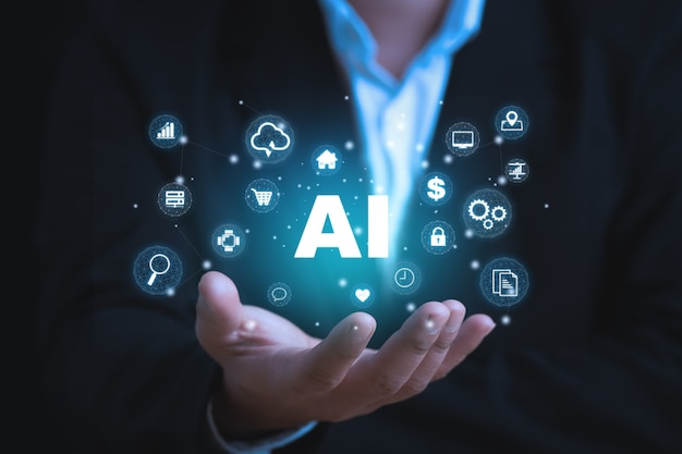 Ai learning and artificial intelligence concept
