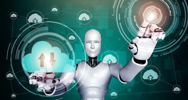 クラウドコンピューティング技術を利用してオンラインサーバーにデータを保存するaiロボット