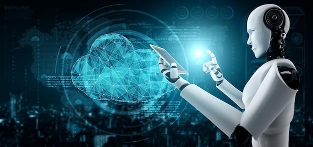 클라우드 컴퓨팅 기술을 사용하여 온라인 서버에 데이터를 저장하는 ai 로봇