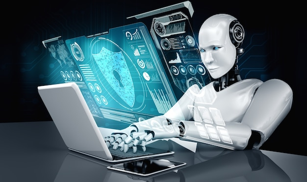 Ai robot using cyber security to protect information privacy