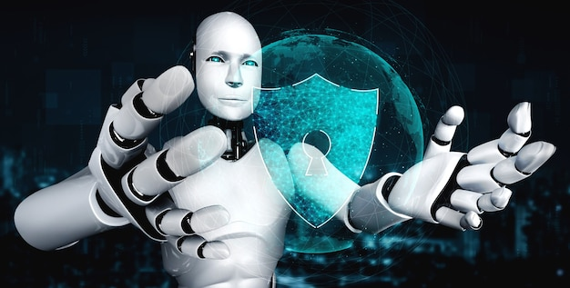 サイバーセキュリティを利用して情報のプライバシーを守るaiロボット