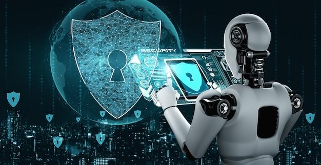 사이버 보안을 사용하여 정보 프라이버시를 보호하는 ai 로봇