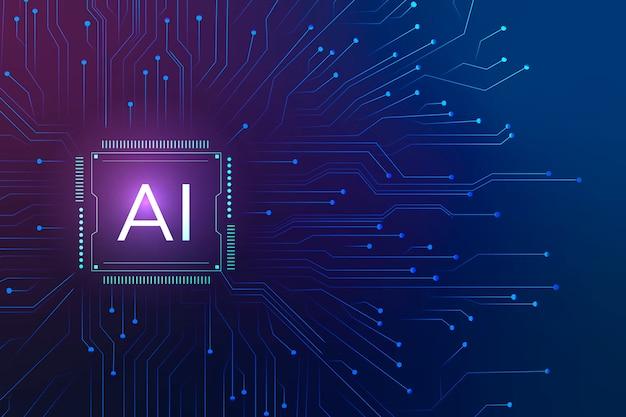 Ai 기술 마이크로칩 배경 디지털 변환 개념