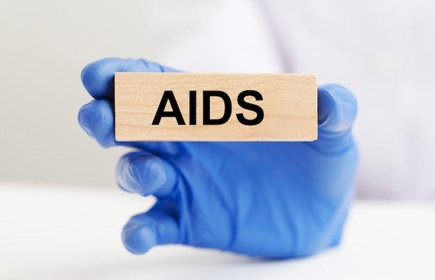 Надпись акронима спида. вирусное заболевание. концепция здоровья