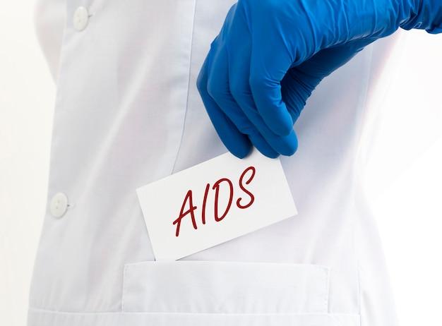 Aids acronym inscription
