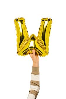 Воздушный шар буква w