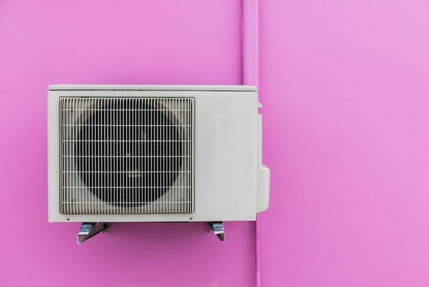 Air compressor on wall