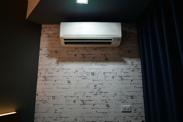 Air conditioner on the wall of the room