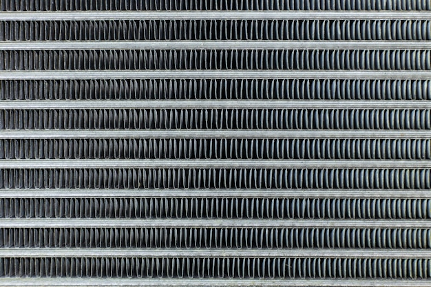 The air conditioning coils car close up background