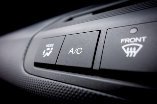 Air conditioning on off power switch of a car air conditioning system