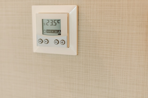 Air conditioning thermostat controller unit.