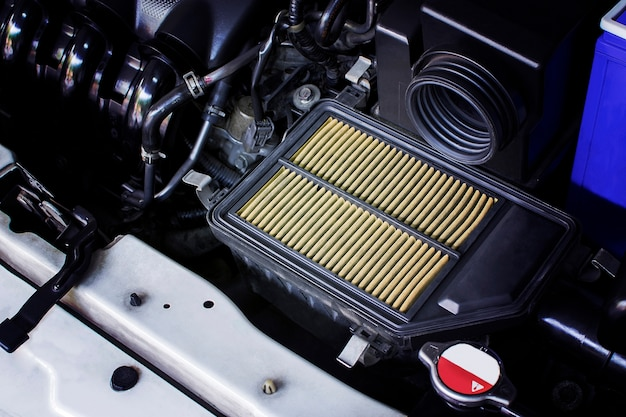 Air filter, the old dirty air filter makes the air