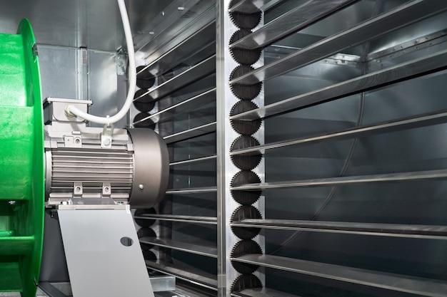 エアハンドリングユニット内部外部モーター排気プレナムファンスチールブラインド