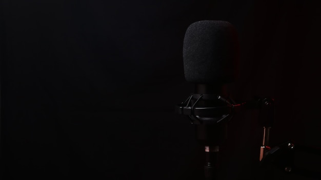 On air mic surrounded by acoustic isolation foamâ